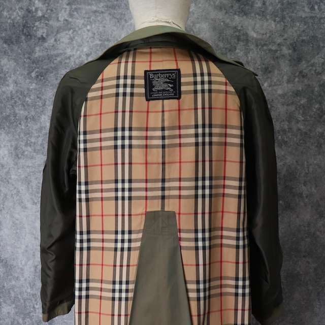 80's〜90's Vintage Burberry's Trench coat  Color of Jewel beetle 80年代〜90年代 バーバリー トレンチコート 玉虫 タマムシ A646