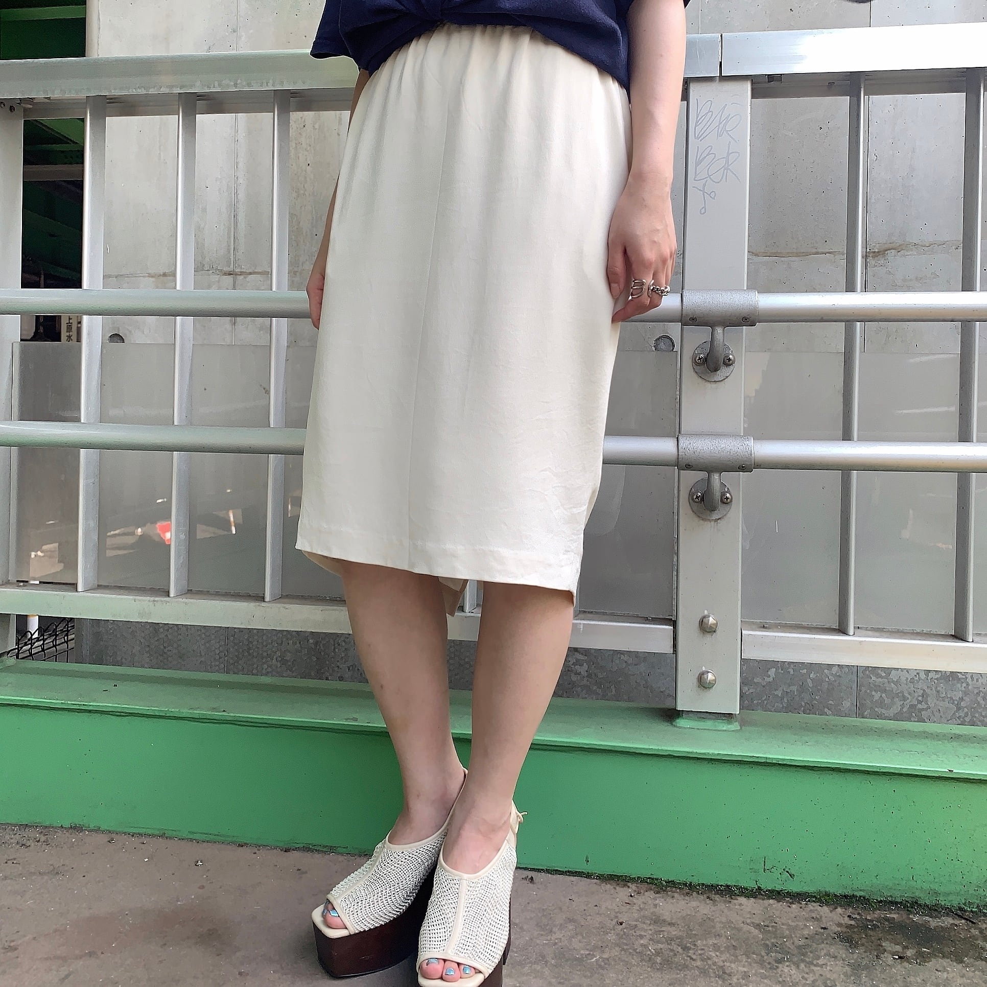 vintage silk tight skirt