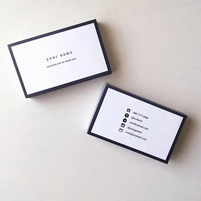 57d2_gry【100枚】パーソナル名刺【ショップカード】