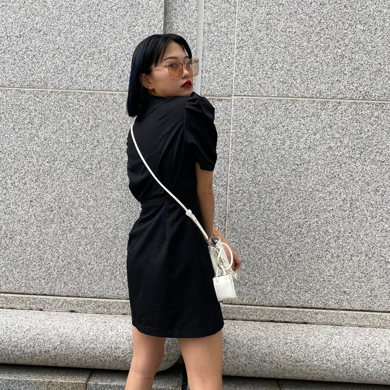 【Belle】modern mini onepiece / black
