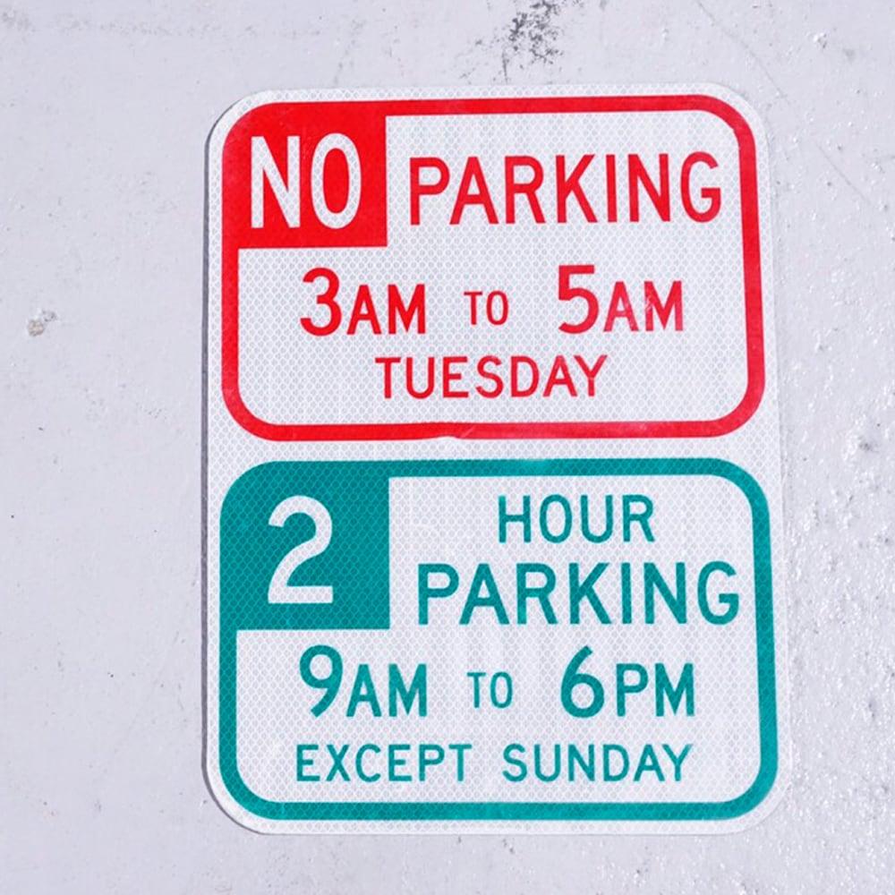 NO PARKING 3-5 アメリカンロードサイン 道路標識 1