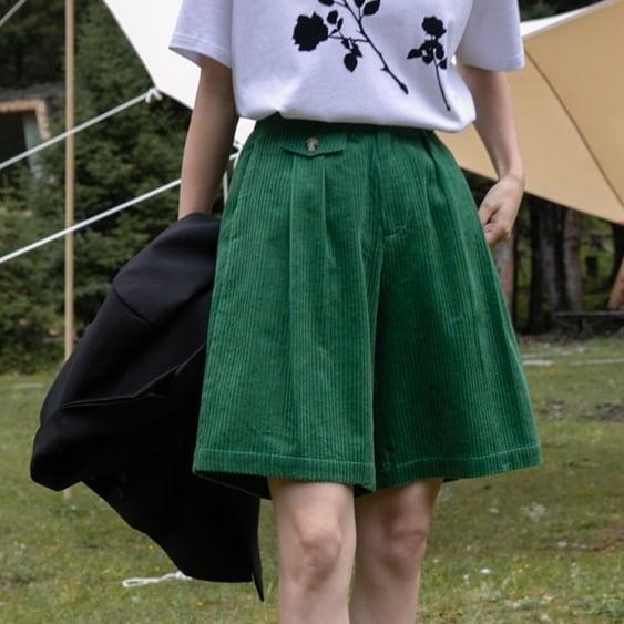 Corduroy half pants(コーデュロイハーフパンツ)b-415