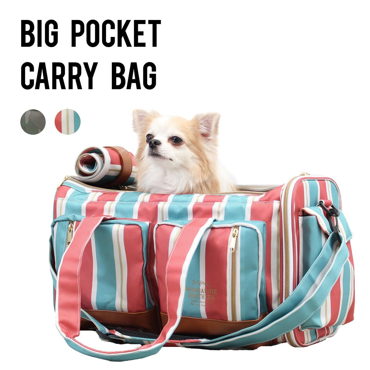 BIG POCKET CARRY BAG(Original Textile) ビッグポケットキャリーバッグ