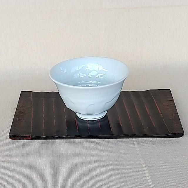 秀島窯作 白線流し 飯碗 (小)