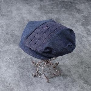 80's〜90's【Dead Stock】Denim Hunting cap 80年代〜90年代 デッドストック デニム ハンチングキャップ ハンチング ベレー帽 ヴィンテージ  古着 A530
