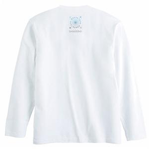 ジオメトリーロゴ長袖Tシャツ(襟下ワンポイント)