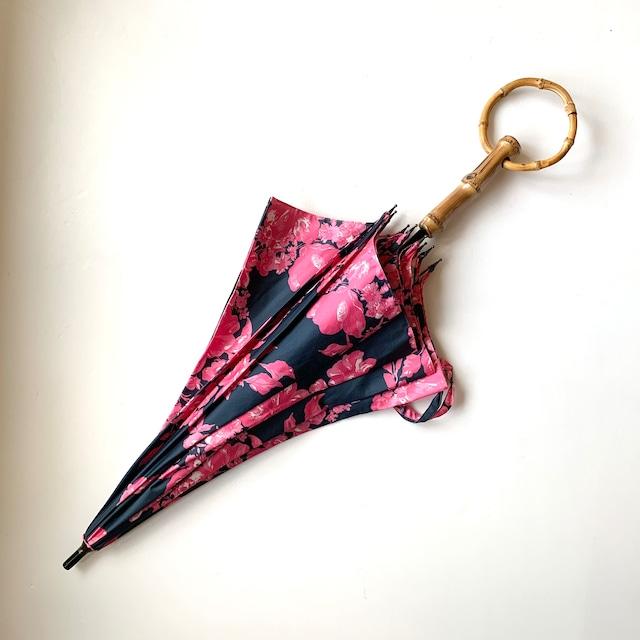 北欧デザイン日傘(晴雨兼用)| ショートタイプ持ち手輪 | midnight shadowblue