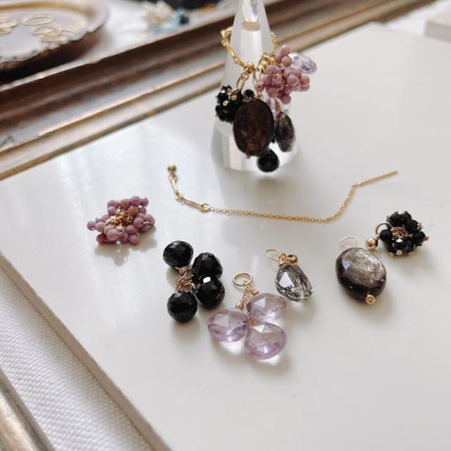 ピアスリング/イヤリング(紫)