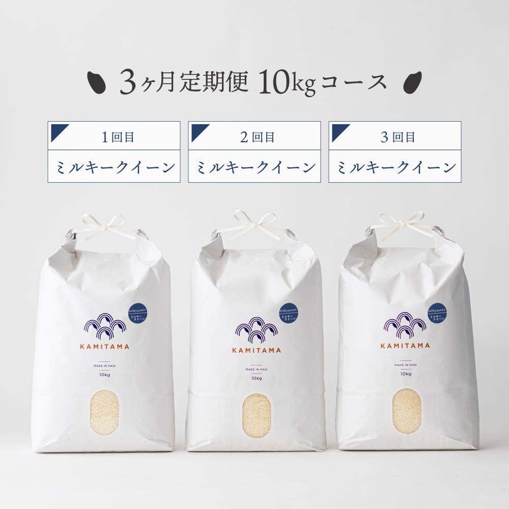 【定期便】令和3年度産 ミルキークイーン10kg 毎月1回お届け(全3回) 送料無料