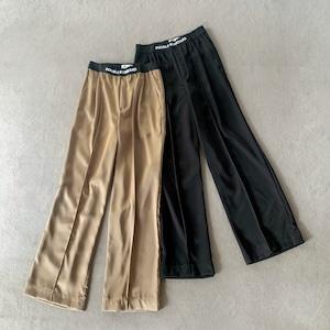Double Standard Clothing×akko3839 ウエストロゴシャイニーワイドパンツ 0506-360-212