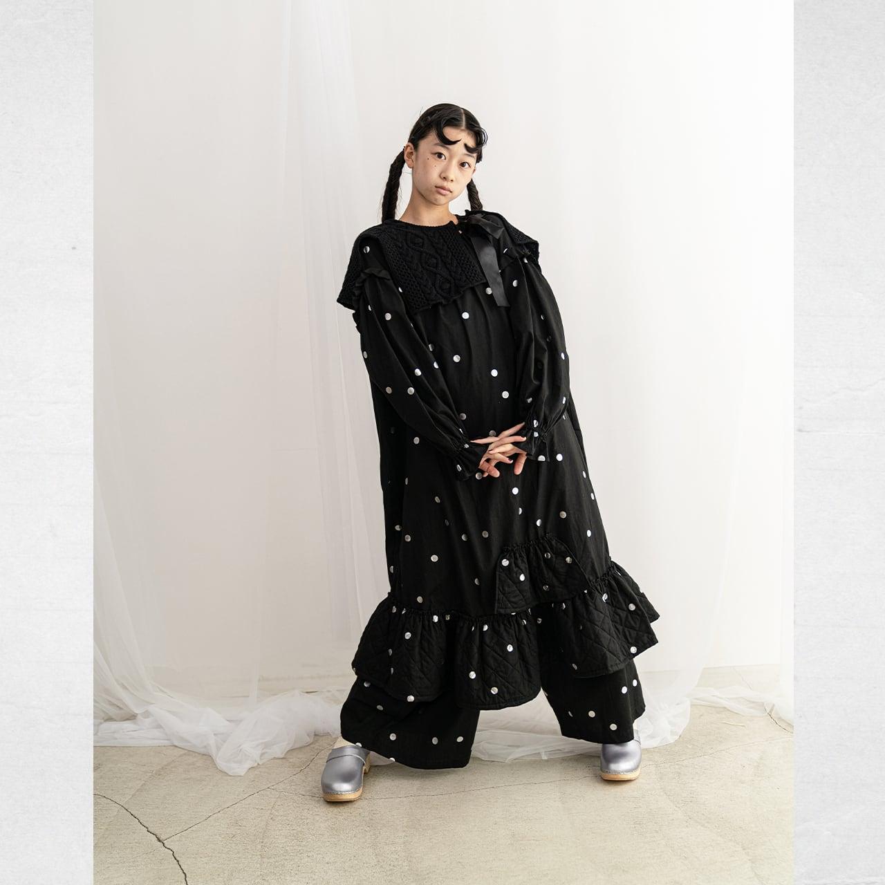 BIG SLEEVES FRILL DRESS / WOMEN