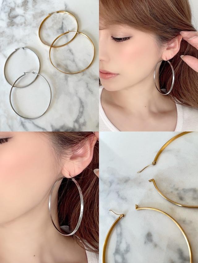 stylish large hoop ¥3,900+tax