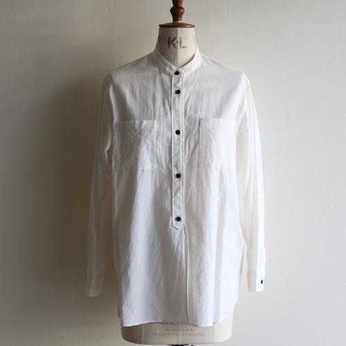STILL BY HAND【womens】cotton wool band collar shirts
