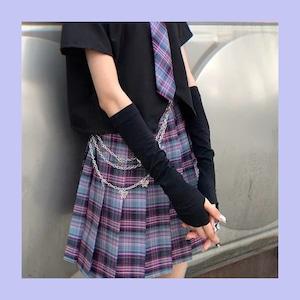 【お取り寄せ】薄手 シンプルアームカバー 2色