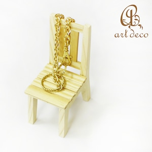 アクセサリー スタンド 椅子 チェア 1個 雑貨 インテリア 装飾 木製 [sta-0001]
