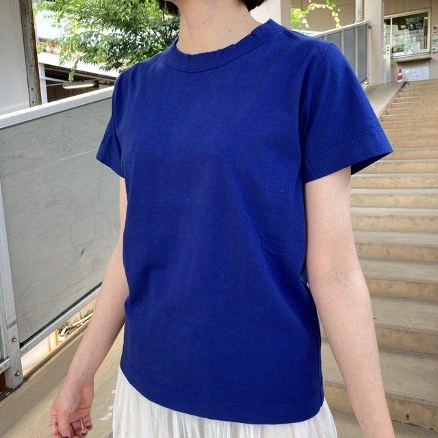 homspun (ホームスパン) 天竺半袖Tシャツ ダークブルー