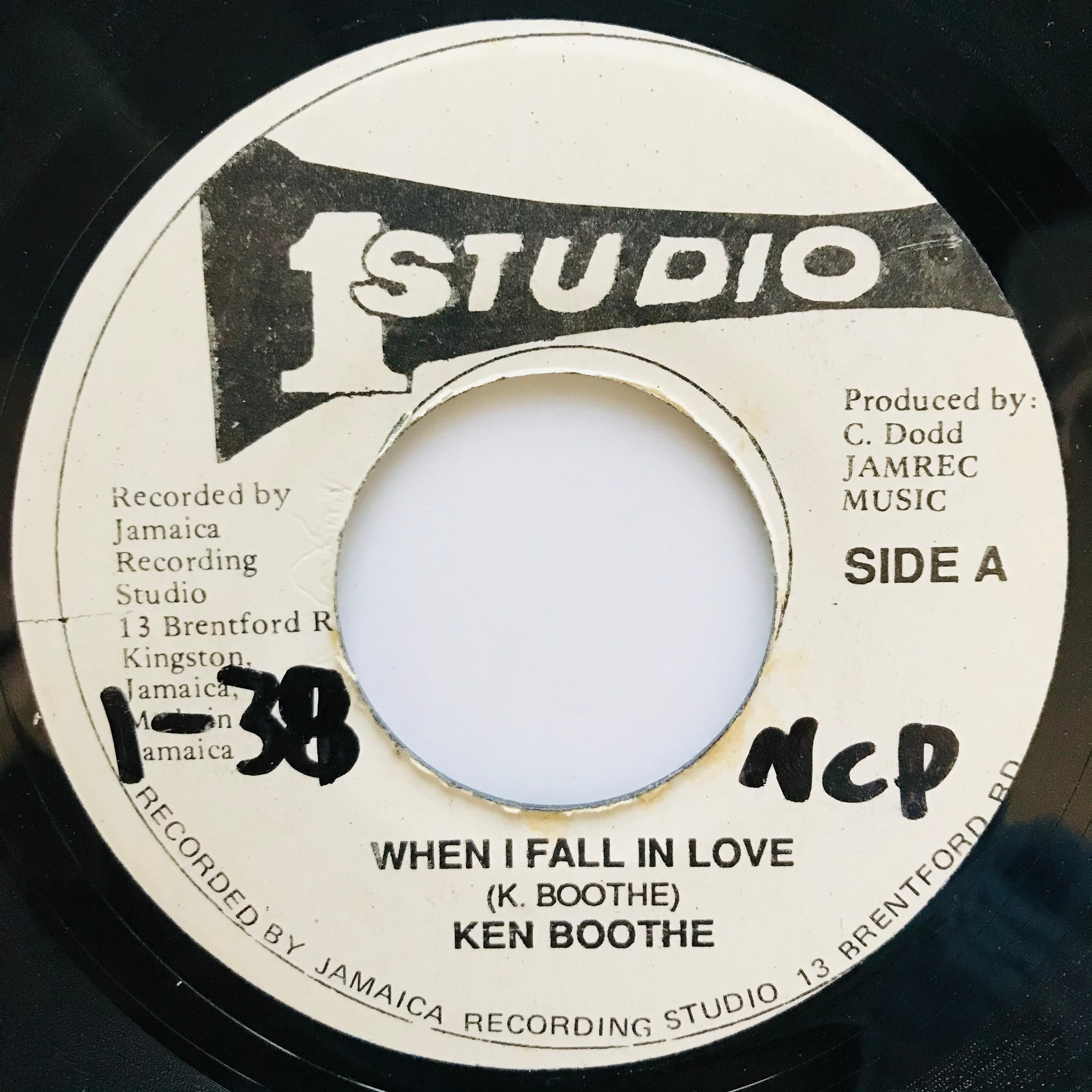 Ken Boothe - When I Fall In Love【7-11033】