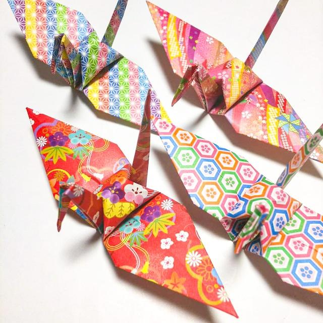 フルサイズの折り鶴「一姫二太郎」(七五三などの撮影小物、店舗ディスプレイ)120羽