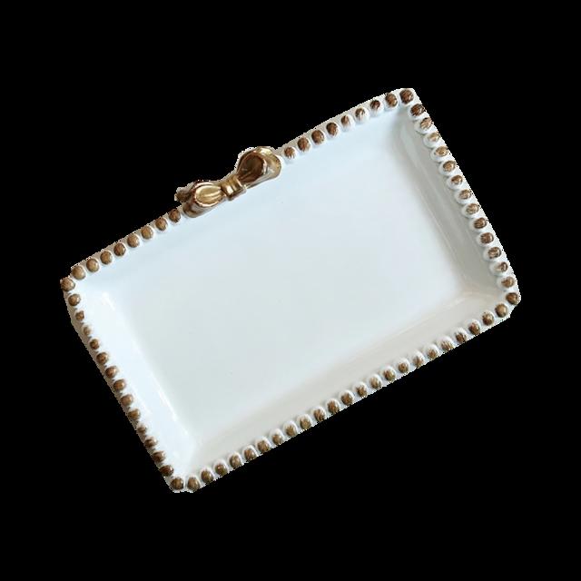 dot square ribbon tray /ドットスクエア リボン トレイ