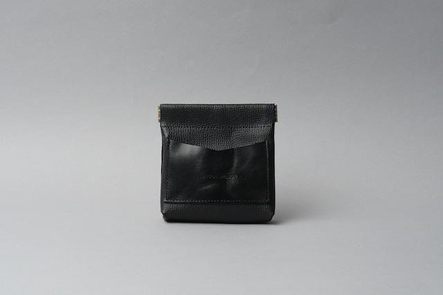 ワンタッチ・コインケース ■ブラック・ブラック■ - メイン画像