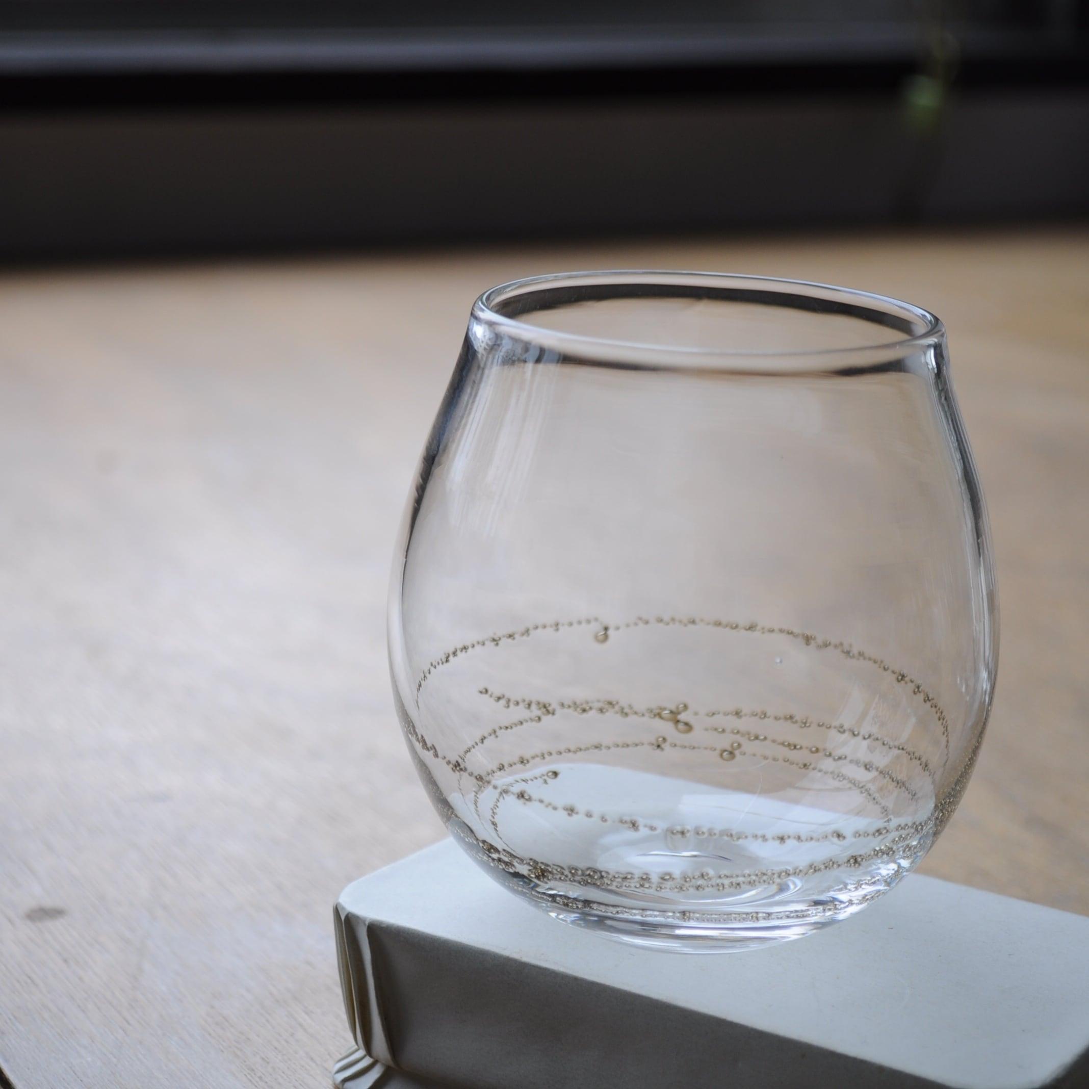 曽田伸子さん   真鍮泡グラス【ショートtype】