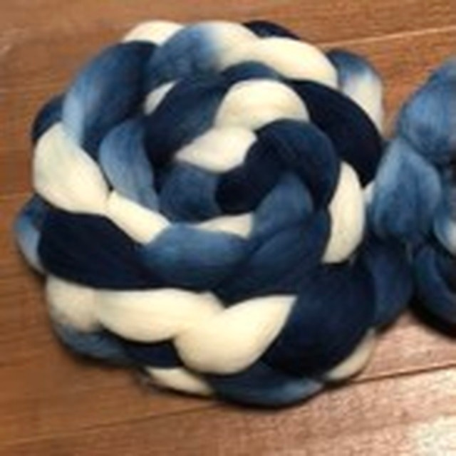 藍染めロムニー