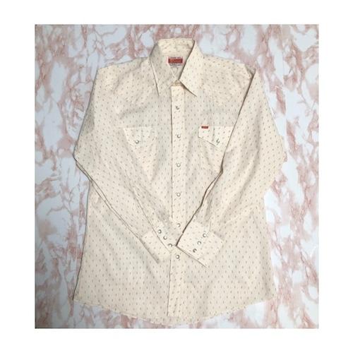 70s flower western shirt