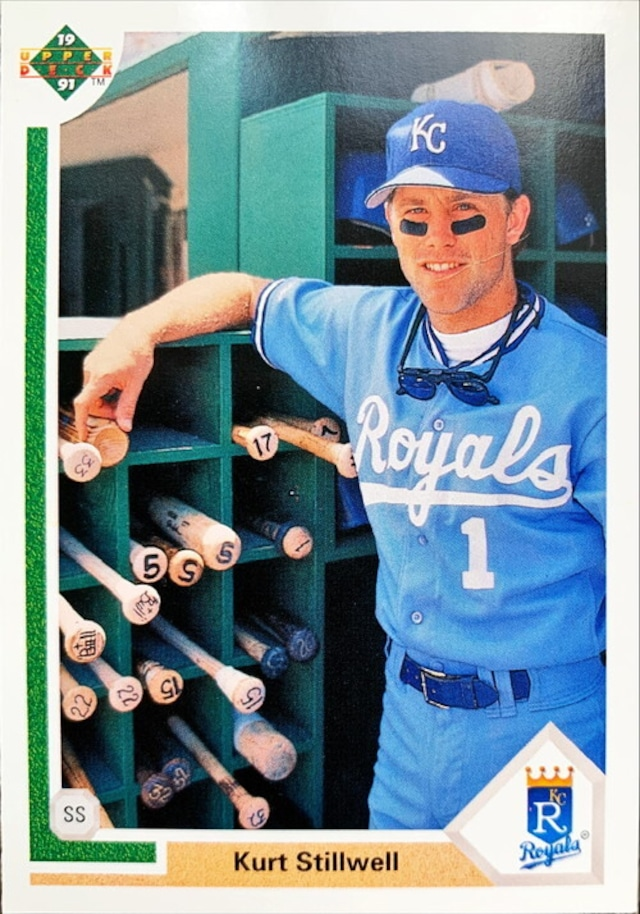 MLBカード 91UPPERDECK Kurt Stillwell #587 ROYALS