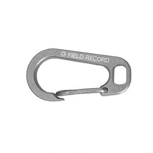 新品 FIELD RECORD  FR-titanium carabiner clip/ FRチタニウム カラビナ クリップ