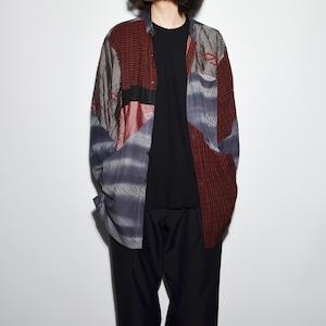 "Crazy Pattern ""NIPPON SILK"" Shirt Coat 〈G〉"