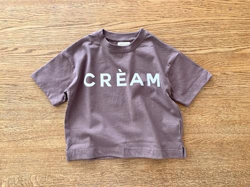 ロゴ入り長袖Tシャツ・モカブラウン 90cm