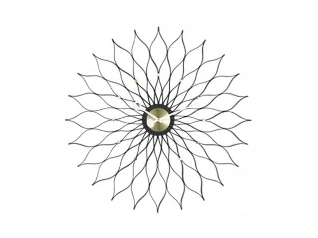 【Vitra Design Museum】Sunflower Clock 【Black】