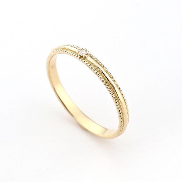 luster milgrain ring