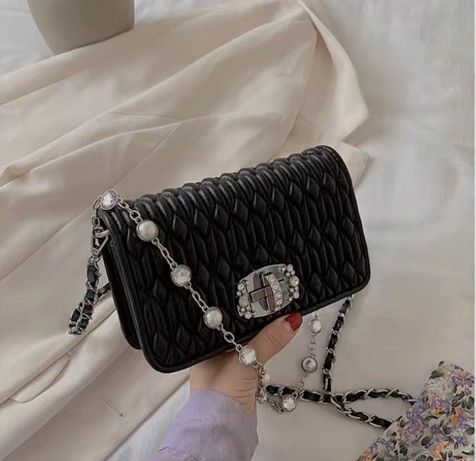 mini  bijou chain bag 3color