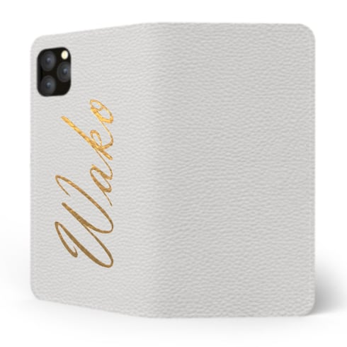 Custom Name iPhone with Premium Shrink Leather Case (Limited/10月分数量限定) Book Cover