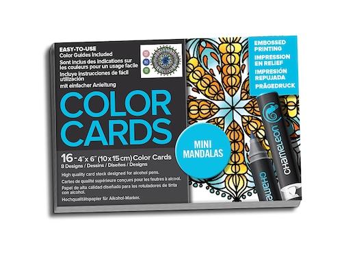 Chameleon Pen Mini Mandala Embossed Color Cards (カメレオンペン 曼荼羅 エンボスカラーカード)
