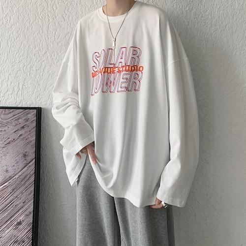レタードプリントロングTシャツ BL9211
