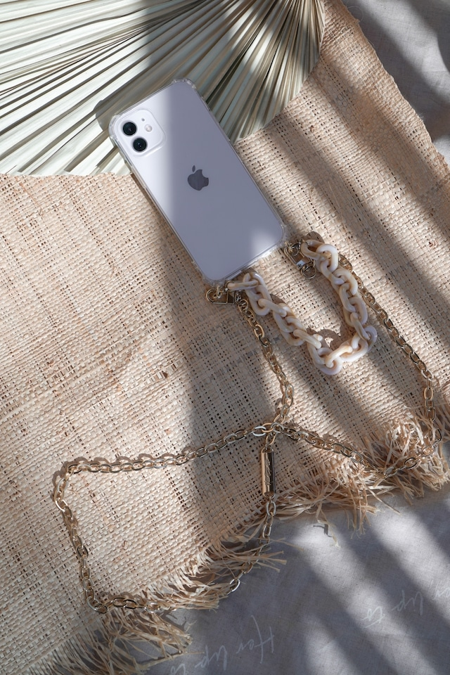 HLT Chain Strap iPhone Case - marble
