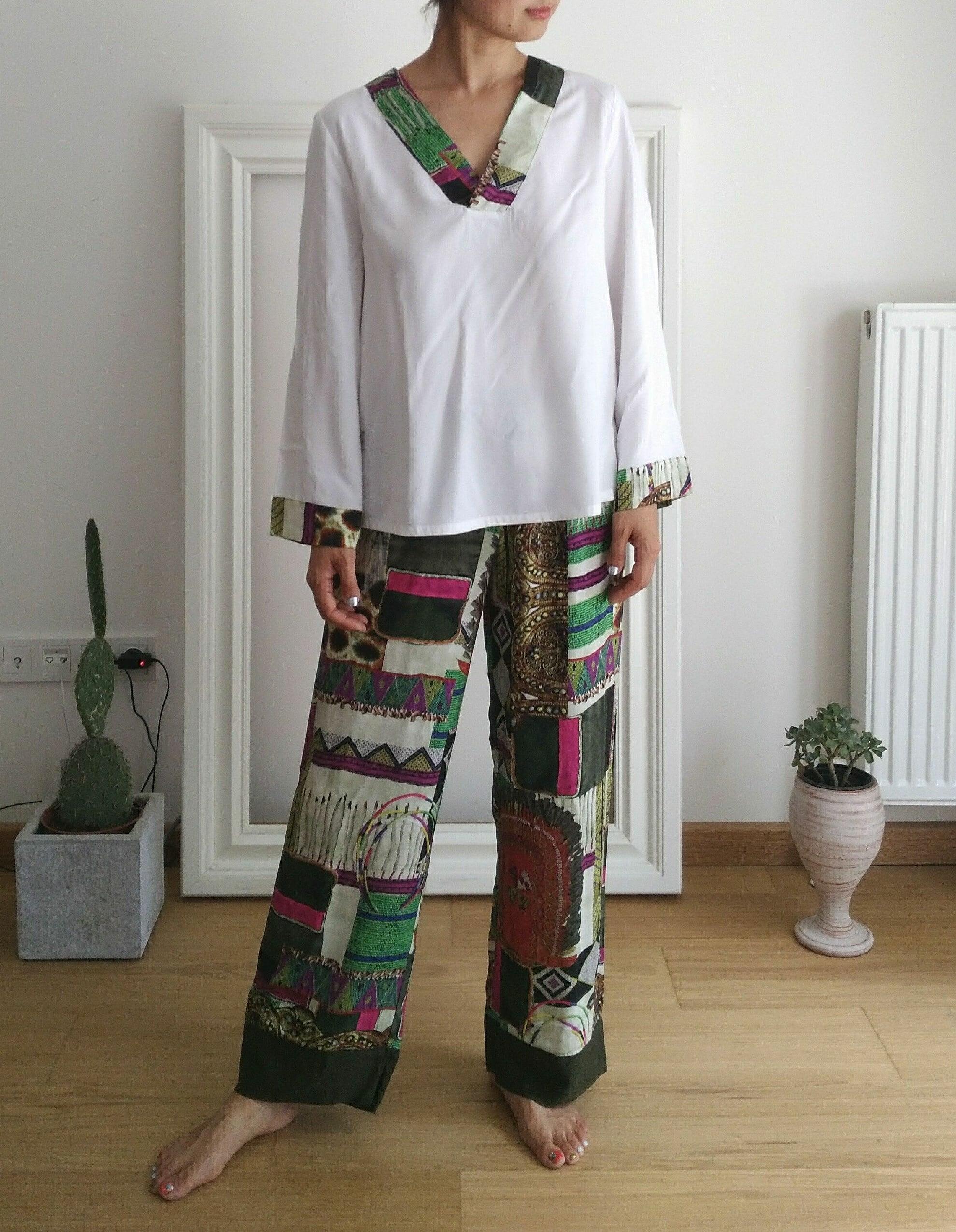 Pajama set up Africa Africa パジャマセットアップ アフリカアフリカ