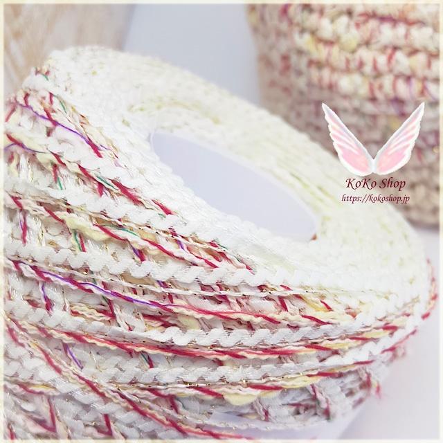 §koko§ 夏祭り〜優しい眼差し〜 1玉37g 約38m 多色撚糸、変わりリング糸、ラメ撚糸 引き揃え糸