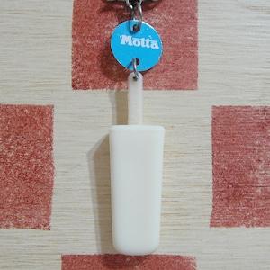 イタリア Motta[モッタ]アイスキャンディー型キーホルダー(ミルク色)