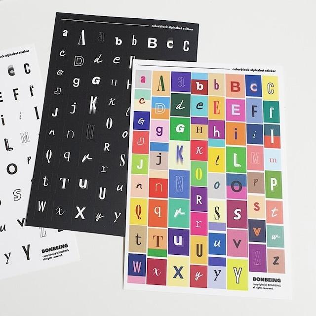 [BONBEING] アルファベット ブロック ステッカー(全2種)