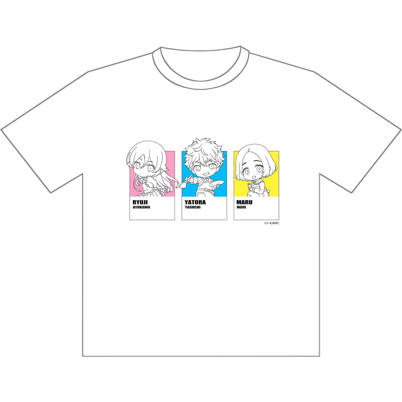 【4589839368032予】ブルーピリオド Tシャツ(矢虎&龍二&まる) XL