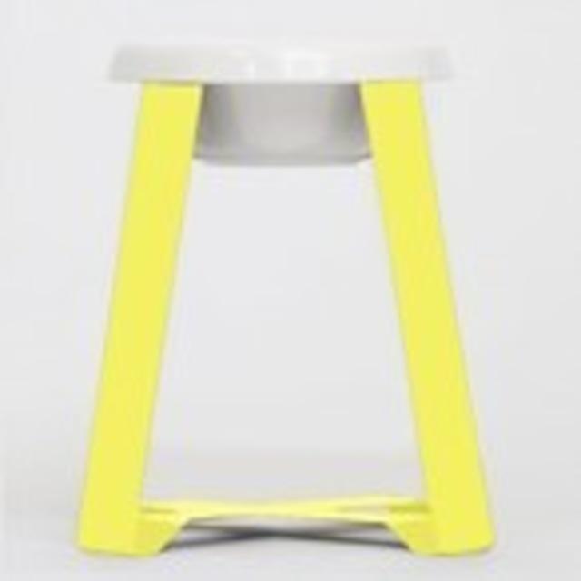 【予約】Pecolo Food Stand Lセット 犬の生活限定色カナリヤイエロー+選べるフードボウルホワイト陶器浅型or陶器深型