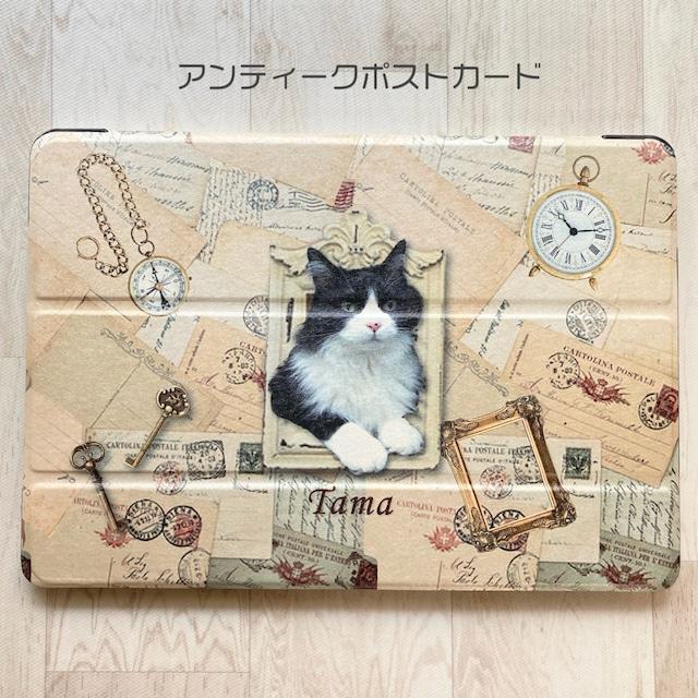 うちの子の写真でiPadケース  「アンティークポストカード」