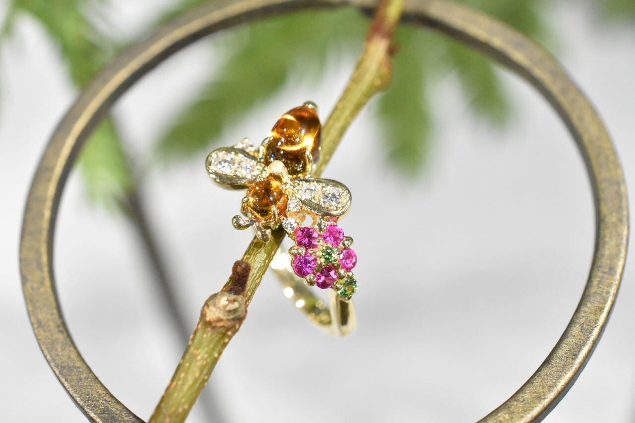 Honey Bee Ring / K18YG