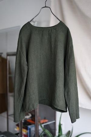 <SOLD OUT>Vincent Jalbert - Full Vintage Linen T Shirt (khaki)