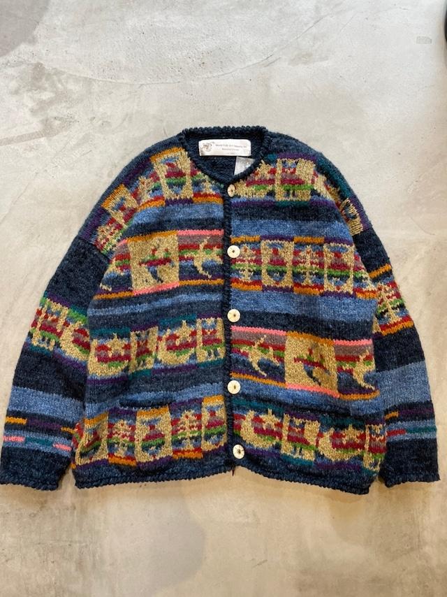 """World Folk Art Imports Inc."" vintage wool cardigan"