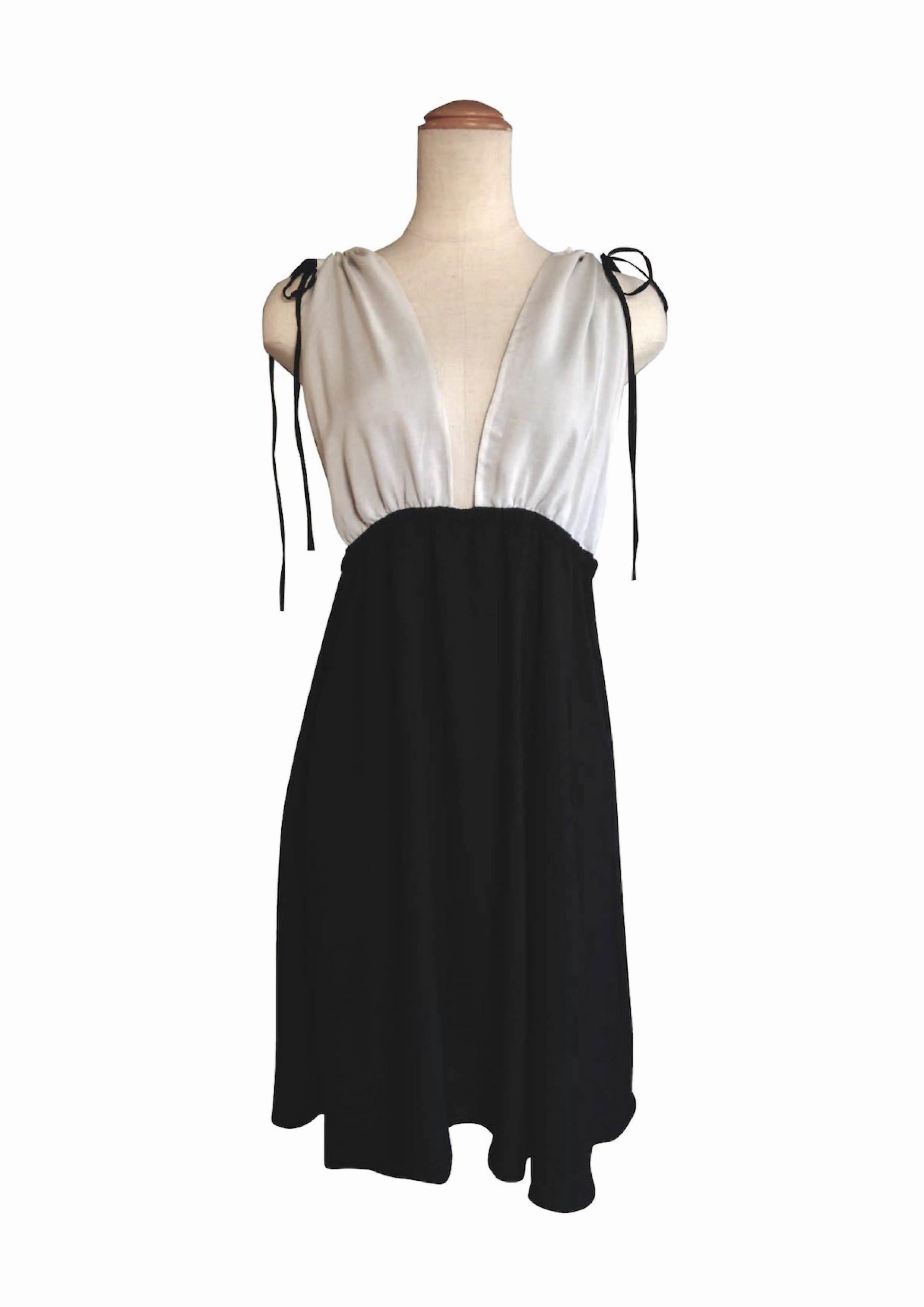 Negliger Night wear Black&White ネグリジェナイトウェア ブラック&ホワイト