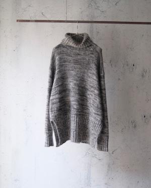 design high neck mohair knit